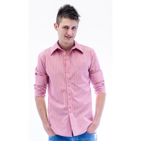 Camisa masculina rosa