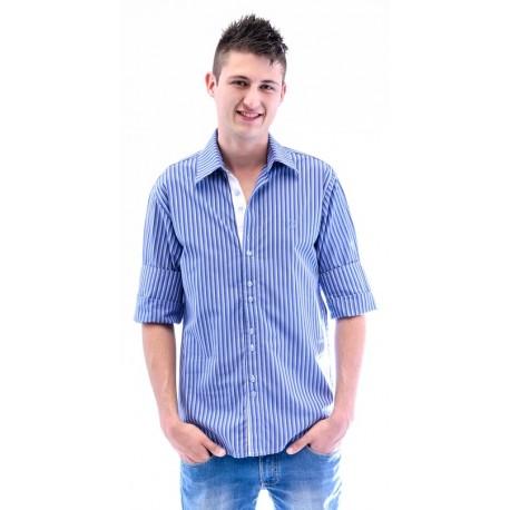 Camisa masculina estampa azul